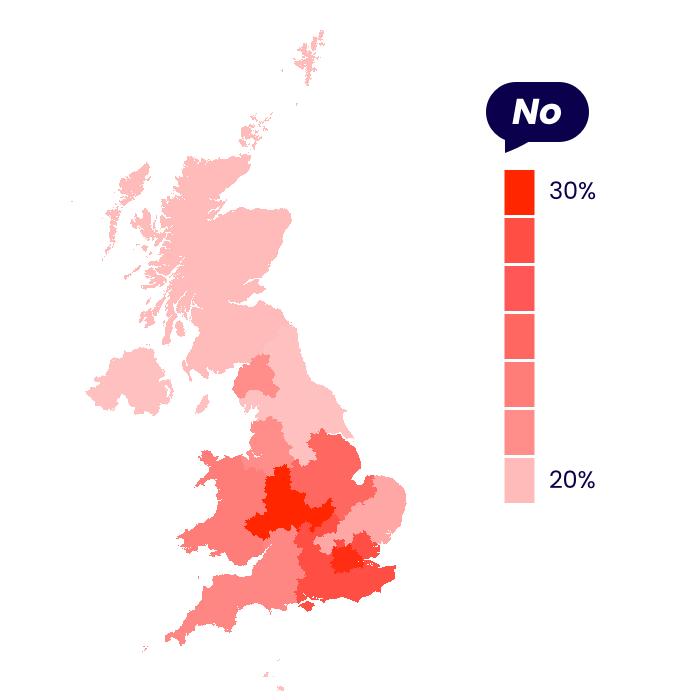 Covid-19 vaccine opposition comparison between UK regions